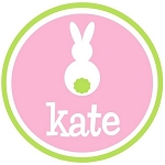Personalized Child's Pink Easter Bunny in Circle Shirt