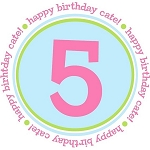 "Child's Personalized ""Dotted Edge"" Birthday Number Shirt"
