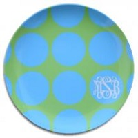 Preppy Monogrammed Plates