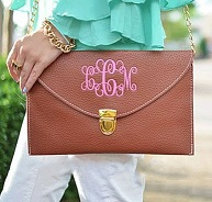 Monogrammed Clutches and Wristlets