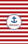 Personalized Lightweight Child's Beach Towel-Nautical Anchor