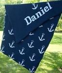 Personalized Anchor Knit Baby Blanket