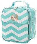 Personalized Aqua Chevron Child's Lunchbox