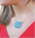 Monogrammed Large Initials Cutout Acrylic Necklace