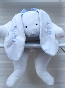 Personalized Large Plush White Bunny