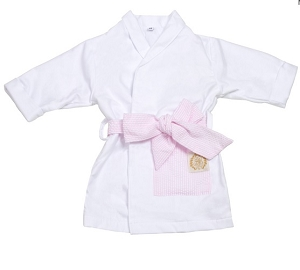 Monogrammed Pink Seersucker Child's Robe