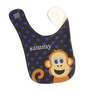 Personalized Monkey Baby Bib