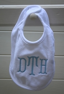 Monogrammed Infant Drool Bib