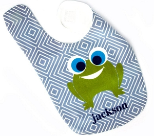 Personalized Frog Baby Bib