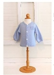 Monogrammed Child's Blue Knit Cardigan Sweater