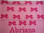 Personalized Knit Bow Blanket