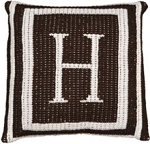 Custom Monogrammed Knitted Pillow