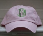 Bubble Gum Pink Monogrammed Ball Cap