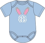Monogrammed Easter Bunny Ears Onesie for Baby