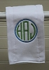 Circle Monogrammed Burp Cloth