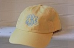 Butter Yellow Monogrammed Ball Cap