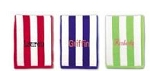 Monogrammed Cabana Stripes Beach Towel