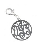 Monogrammed Filigree Script Acrylic Key Ring
