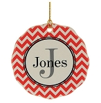 Personalized Family Name Chevron Ornament