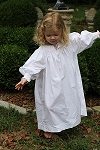 Child's White Smocked Nightgown