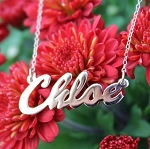 "Personalized ""Chloe"" Script Name Necklace"