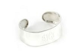 Monogrammed Sterling Silver Concave Cuff