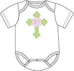 Monogrammed Cross Onesie for Baby