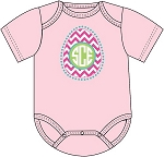 Monogrammed Easter Egg Onesie for Baby