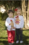 Monogrammed Gingerbread Man Applique Child's Shirt for Boys