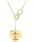 Personalized Infinite Love Heart Necklace