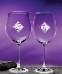 Monogrammed Harmony Wine Glasses