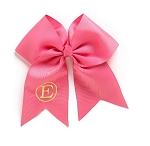 Monogrammed Hot Pink Grosgrain Hair Bow