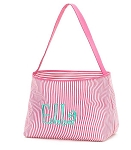 Personalized Hot Pink Seersucker Stripe Easter Bucket