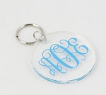 Acrylic Keychain with Decal Monogram QS