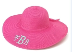 Monogrammed Ladies' Hot Pink Floppy Hat