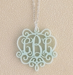"Monogrammed ""Laura"" Acrylic Necklace"