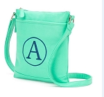 Monogrammed Crossbody Bag in Mint