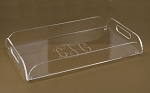 HS Monogrammed Acrylic Serving Tray with Handles