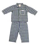 Monogrammed Blue Plaid Children's Pajamas