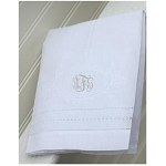 Monogrammed  Wreath Design Tea Towel