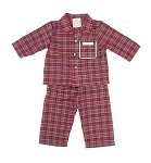 Monogrammed Child's Red Plaid Pajamas