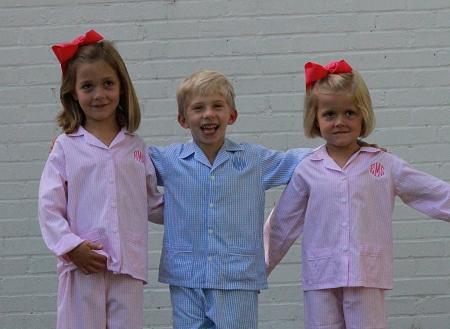 Monogrammed Children S Seersucker Pajamas