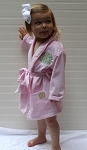Monogrammed Pink Gingham Child's Robe