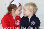 Monogrammed Child's Quarter Zip Pullover Sweatshirt
