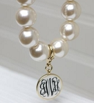 Monogrammed Pearl Necklace QS