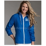 Monogrammed Ladies Beachcomber Jacket Cobalt