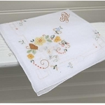 Monogrammed Multi-Colored Floral Ladies' Handkerchief