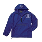 Monogrammed Ladies Royal Blue Wind Breaker