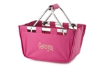 Personalized Mini Market Tote Hot Pink