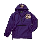 Monogrammed Ladies Purple Wind Breaker